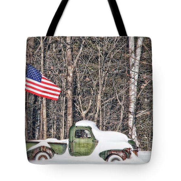 Tote Bag featuring the photograph Patriotic Winter by Richard Bean