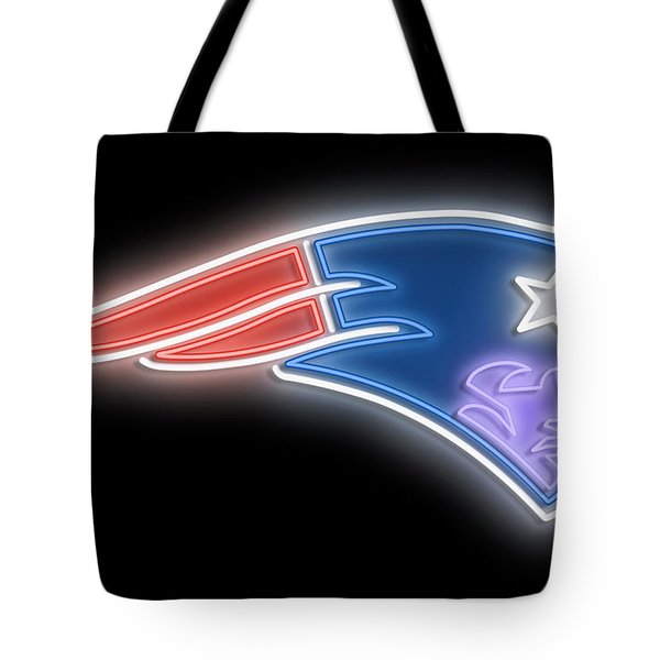 Patriots Neon Sign Tote Bag