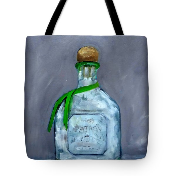 Patron Silver Tequila Bottle Man Cave  Tote Bag