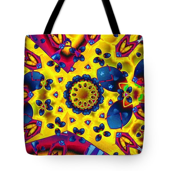 Pattern 2 Intersect Tote Bag by Ron Bissett