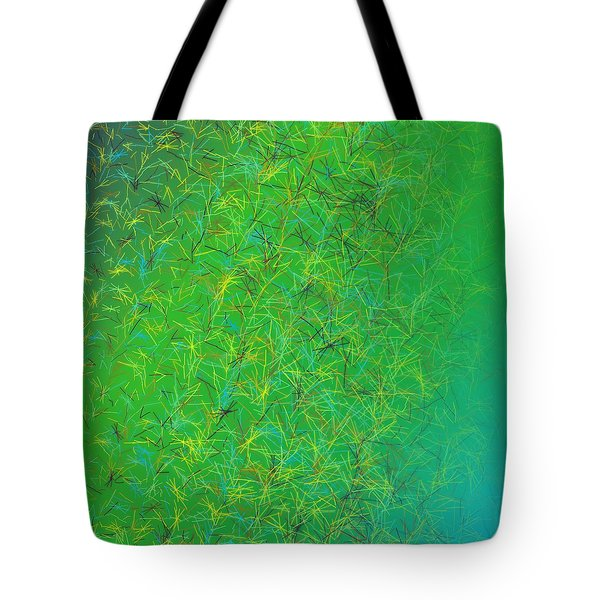 Tote Bag featuring the digital art Pattern 215 by Marko Sabotin