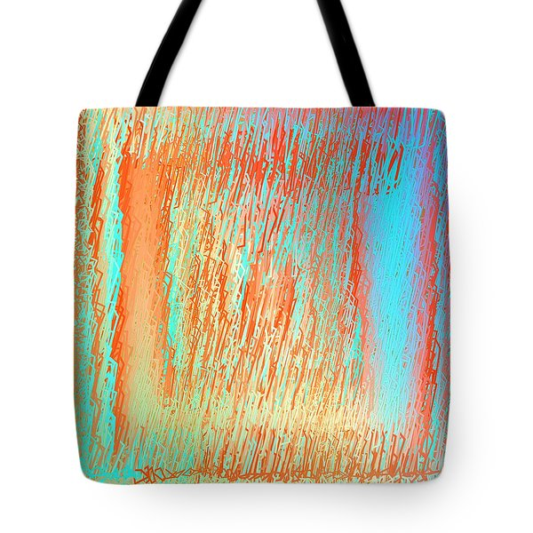 Tote Bag featuring the digital art Pattern 216 by Marko Sabotin