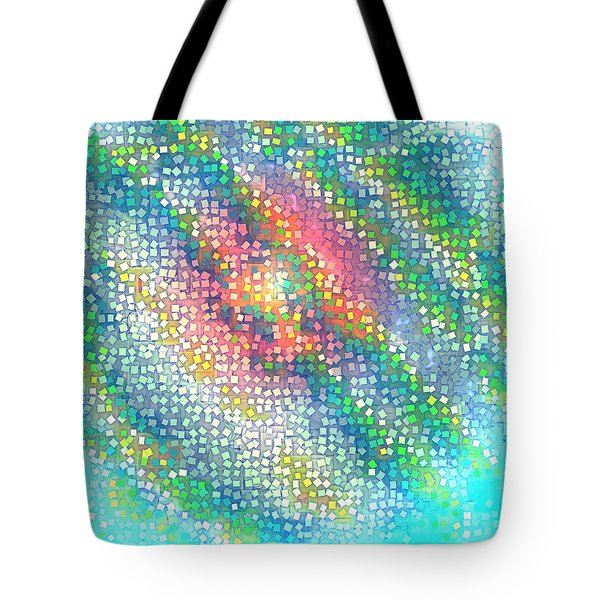 Tote Bag featuring the digital art Pattern 229 by Marko Sabotin