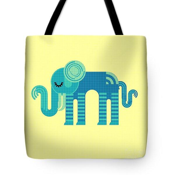 Pattern Elephant Tote Bag