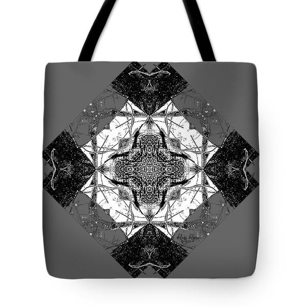 Pattern In Black White Tote Bag