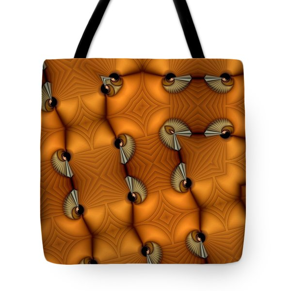 Opposing Patterns Tote Bag by Ron Bissett