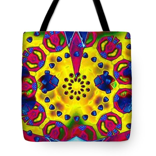 Pattern Intersect Tote Bag by Ron Bissett