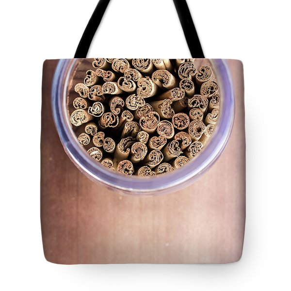 Tote Bag featuring the photograph pattern of Cinnamon  by Jingjits Photography