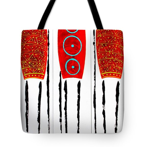 Patterned Masai Triptych Tote Bag