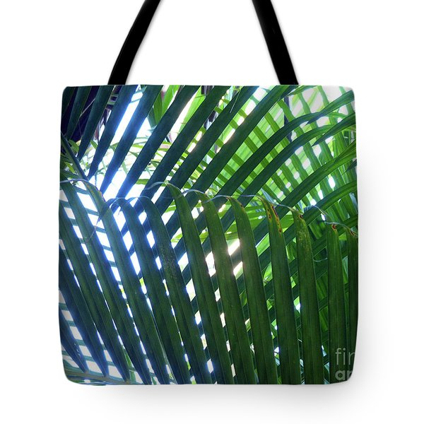 Patterned Palms Tote Bag