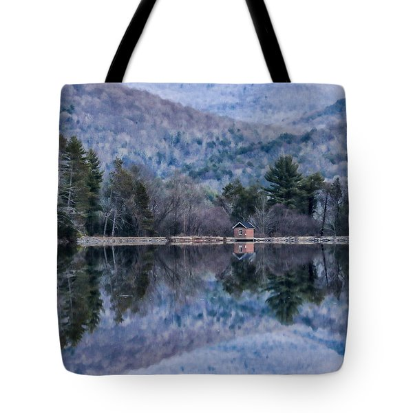 Patterns And Reflections At The Lake Tote Bag by Nancy De Flon