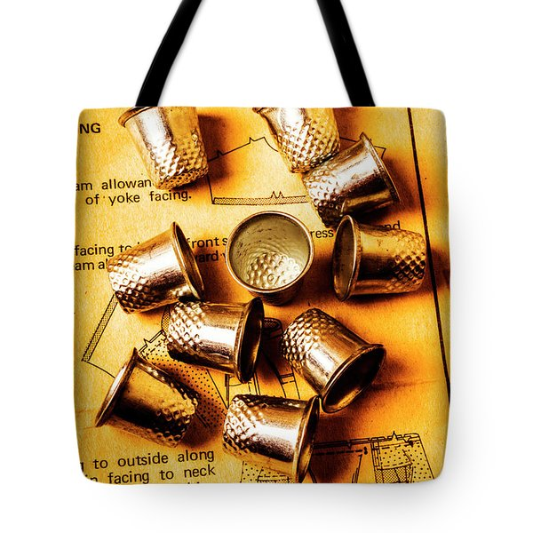 Patterns And Thimbles Tote Bag