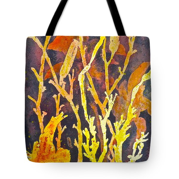 Tote Bag featuring the painting Patterns In Nature by Carolyn Rosenberger