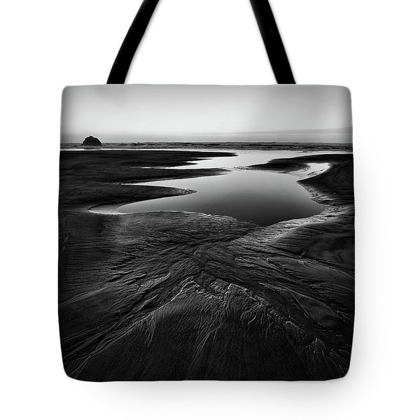 Tote Bag featuring the photograph Patterns In The Sand by Jon Glaser