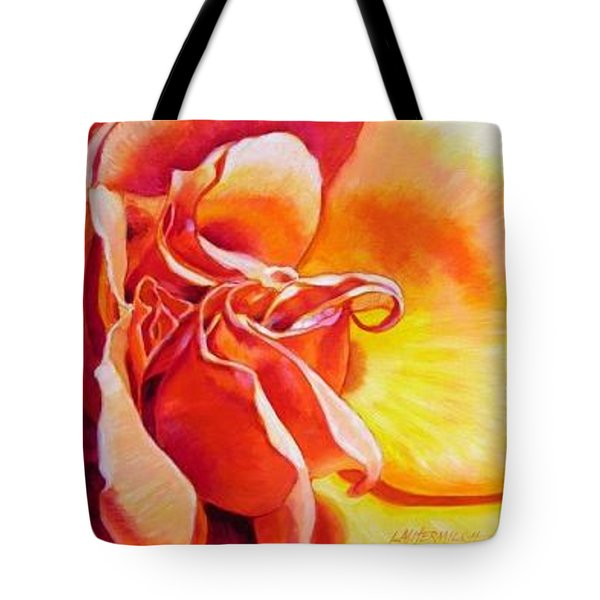 Patterns Of A Rose Tote Bag by John Lautermilch