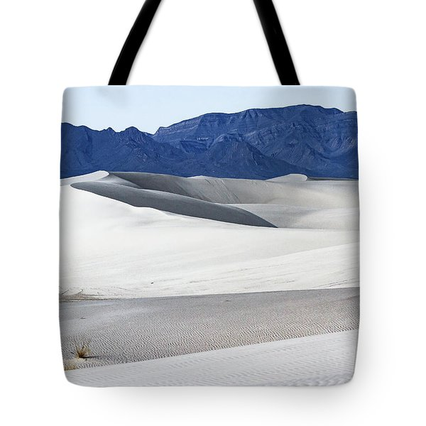 Patterns On White Sands - New Mexico Tote Bag