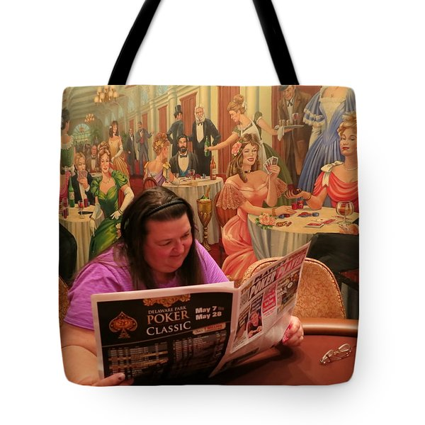 Pattie Poker Tote Bag