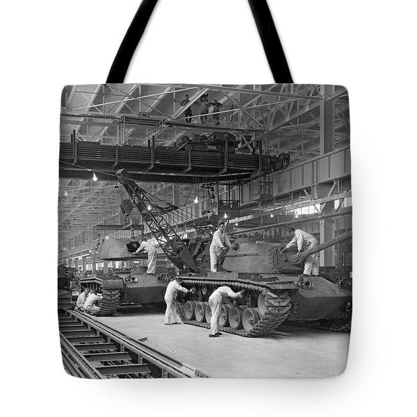 Patton Tank Assembly Line Tote Bag