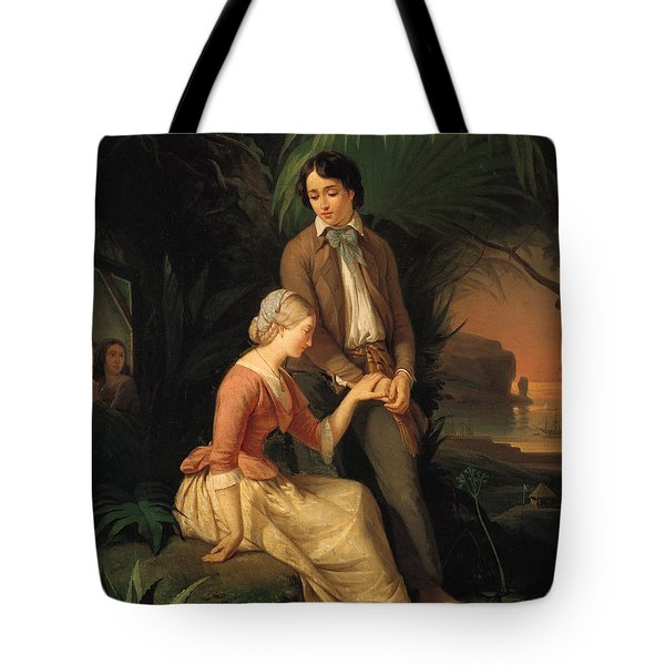 Paul And Virginie Tote Bag by French School