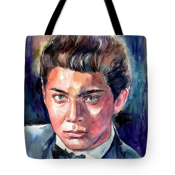 Paul Anka Young Portrait Tote Bag