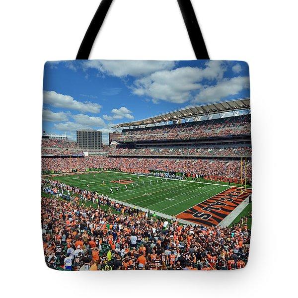 Paul Brown Stadium - Cincinnati Bengals Tote Bag