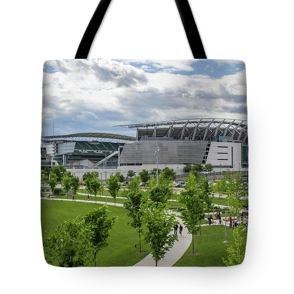 Paul Brown Stadium Color Tote Bag by Scott Meyer