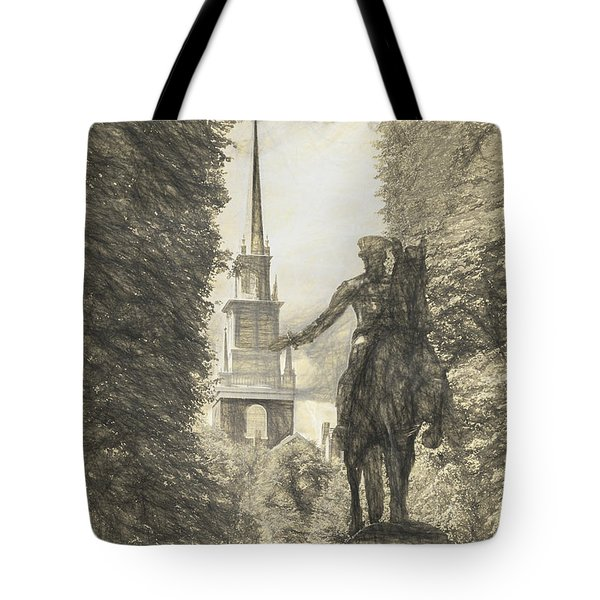 Paul Revere Rides Sketch Tote Bag