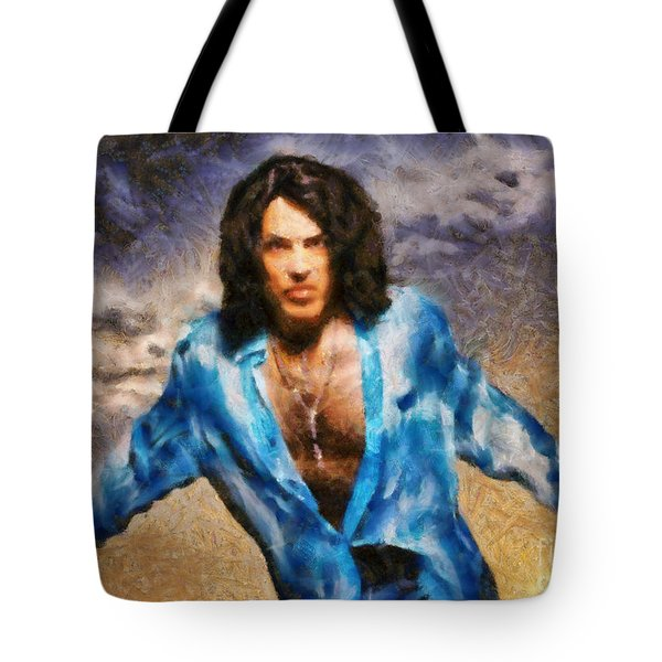 Tote Bag featuring the painting Paul Stanley Of Kiss by Elizabeth Coats