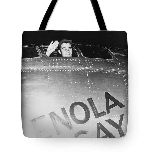 Paul Tibbets In The Enola Gay Tote Bag by War Is Hell Store