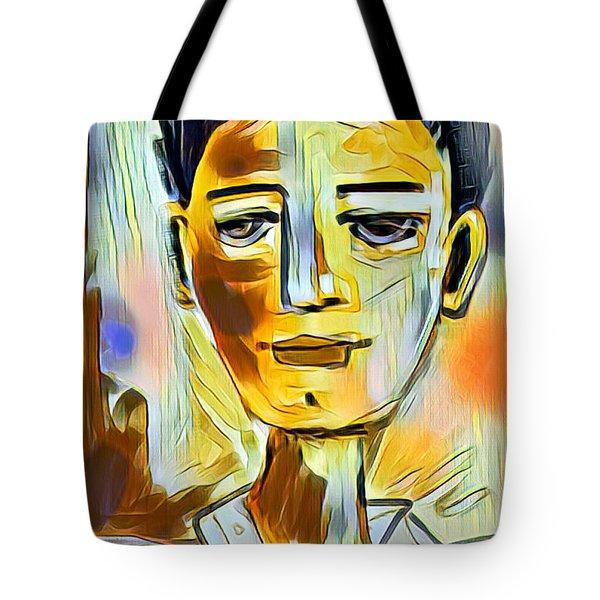 Tote Bag featuring the digital art Pauls Portrait by Elaine Lanoue