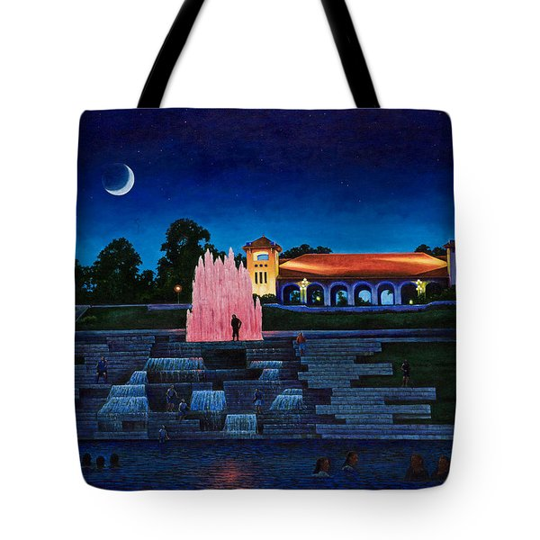 Pavilion Fountains Tote Bag by Michael Frank