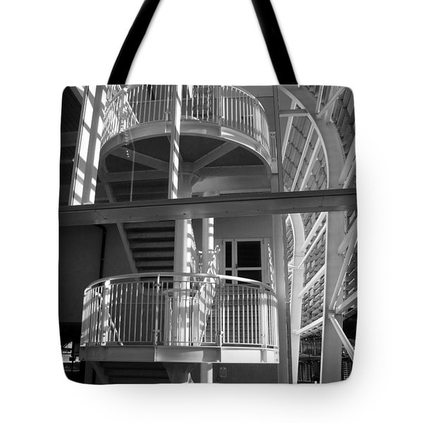 Pavilion Stairs At The Ageas Rose Bowl Tote Bag by Terri Waters