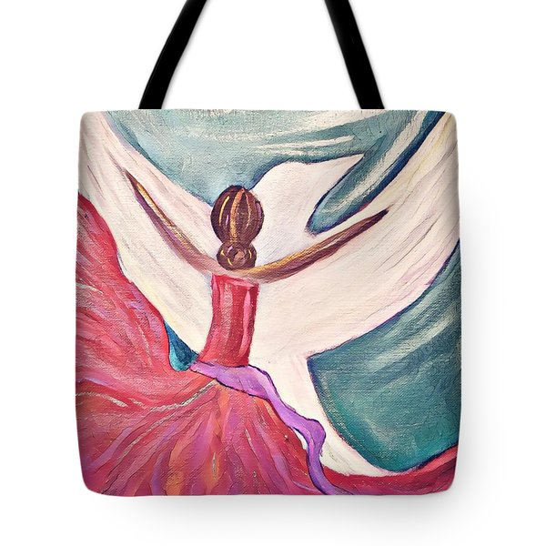 Tote Bag featuring the painting Fortress by Jessica Eli