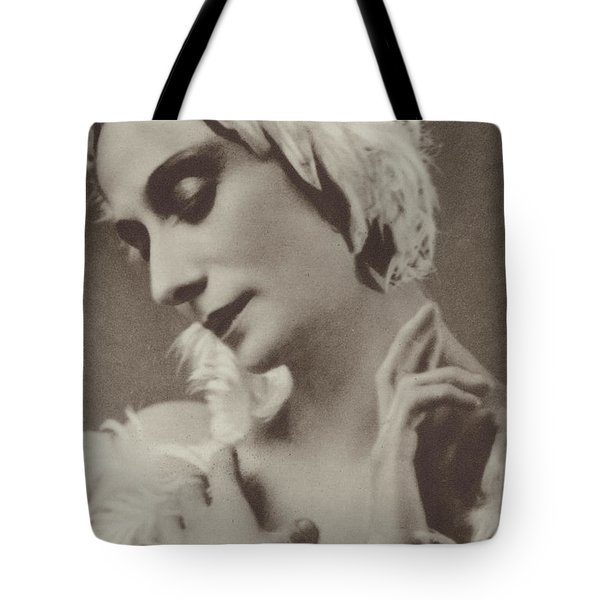 Pavlova In The Dying Swan Tote Bag