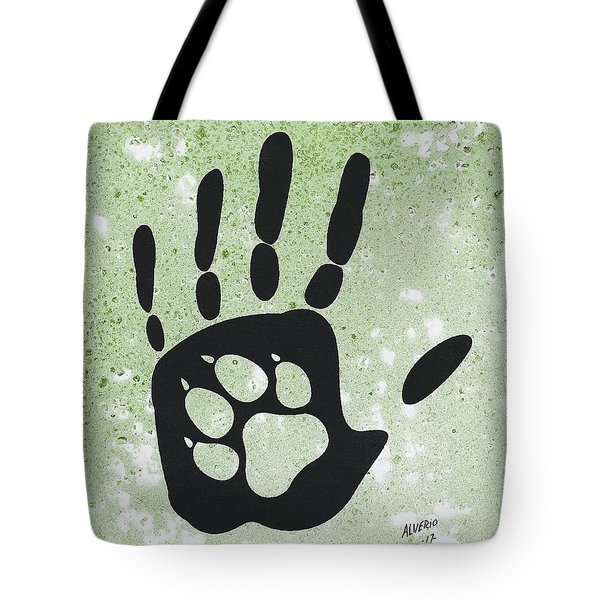 Paw And Hand Tote Bag