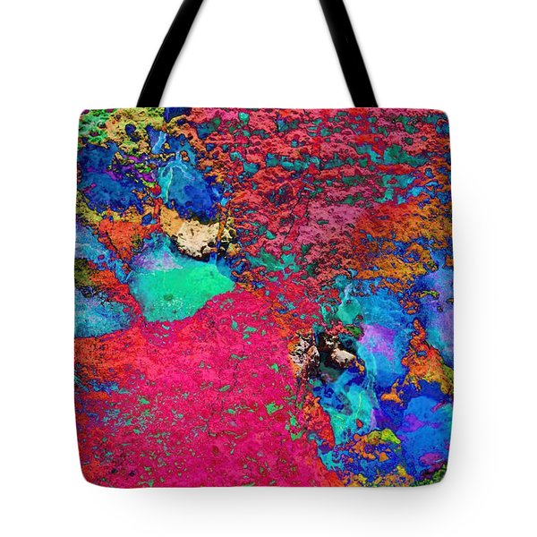 Paw Prints Colour Explosion Tote Bag
