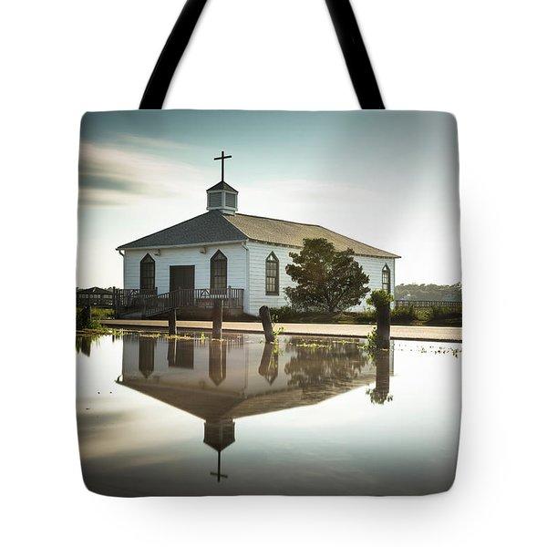 Pawleys Chapel Reflection Tote Bag