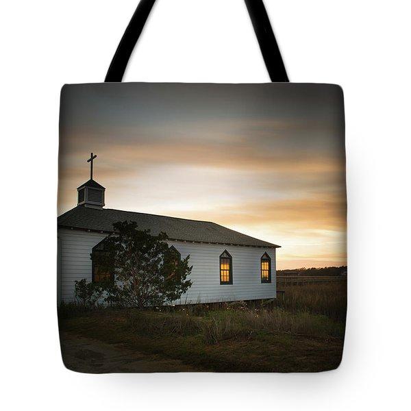 Pawleys Chapel Sunset Tote Bag