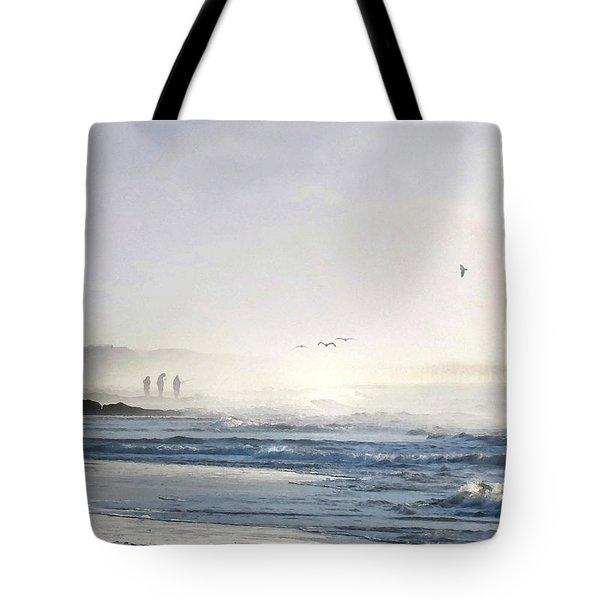 Tote Bag featuring the digital art Pawleys Island Morning Mist by Deborah Smith