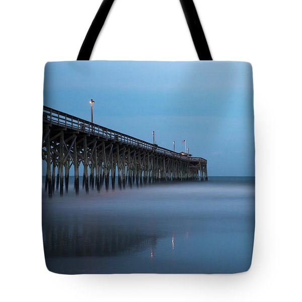 Pawleys Island Pier During The Blue Hour Tote Bag