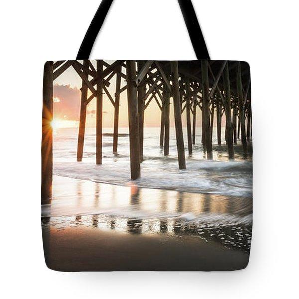 Pawleys Island Pier Sunrise Tote Bag