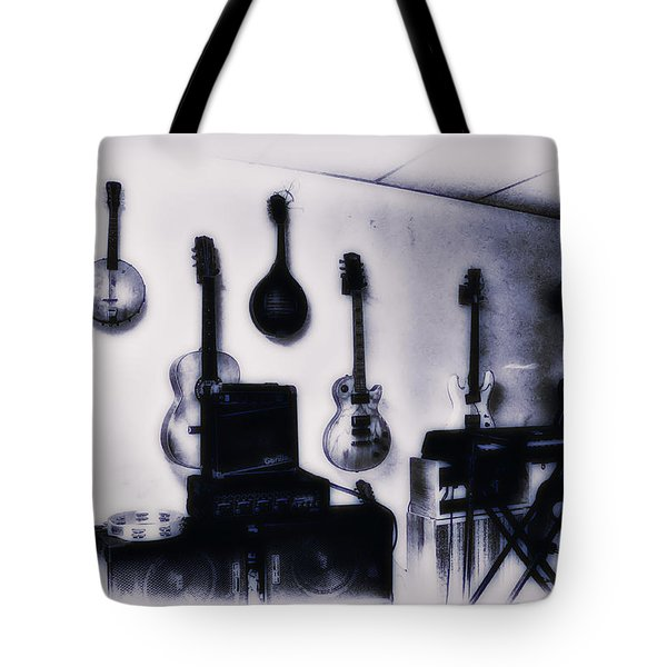 Pawn Shop Guitars Tote Bag by Bill Cannon