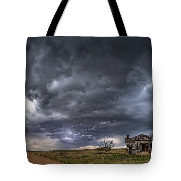 Pawnee School Storm Tote Bag by Darren White