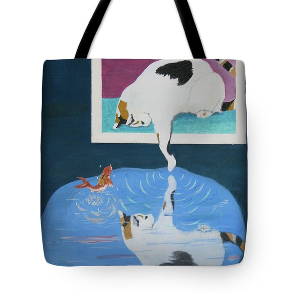 Tote Bag featuring the painting Paws And Effect by Phyllis Kaltenbach