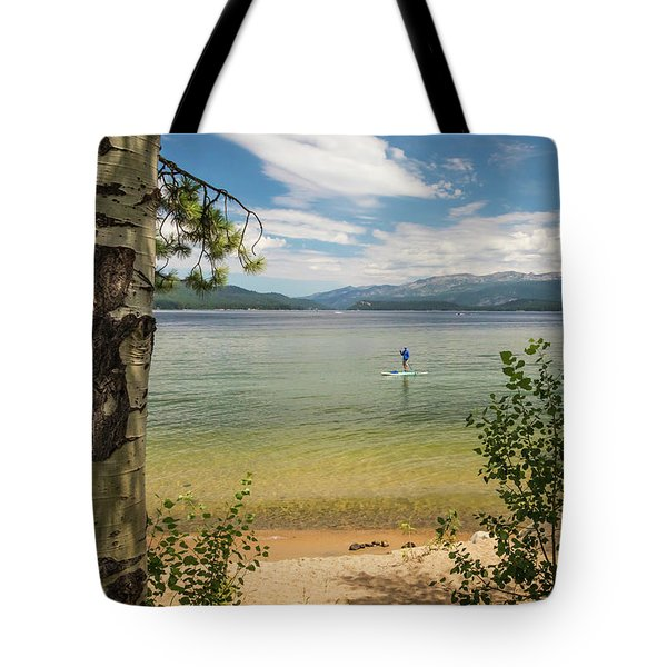 Tote Bag featuring the photograph Payette Lake by Mark Mille