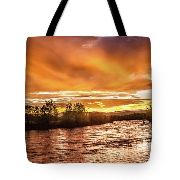 Payette River Sunrise Tote Bag by Robert Bales