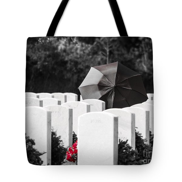 Paying Her Respects Tote Bag