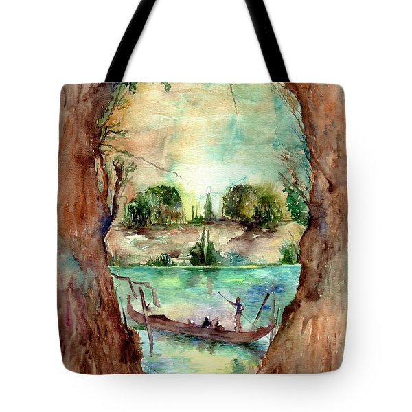 Paysage With A Boat Tote Bag