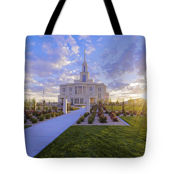 Payson Temple I Tote Bag