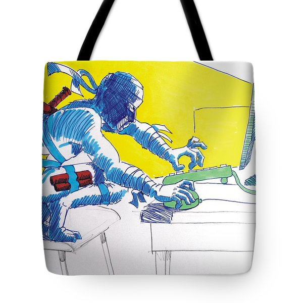 Pc Ninja Tote Bag by Mike Jory
